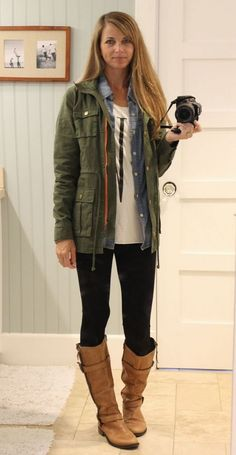 5e9292113dc Joanna Gaines Style Clothes with 90+ Good Looking Women Fashion Ideas.  Cargo Jacket ...