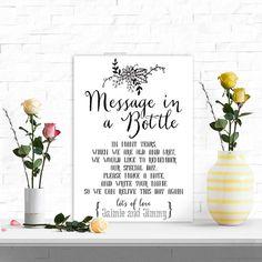 DIGITAL Personalised Wedding Message in a Bottle by PurpleScrunch