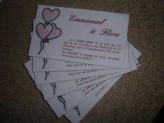 Flora et Manu se marient ! - Cartes pour le lacher de ballons