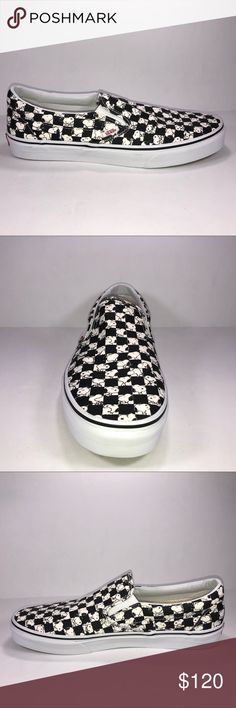 959adbebdf Vans X Peanuts Slip On Snoopy Checkered Board Shoe New With Box See  Pictures For Details