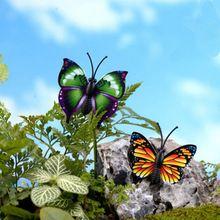 4 Pçs/set miniaturas artesanato borboleta fada do jardim mini terrários de gnomos de musgo estatuetas para decoração de jardim 4x4 cm(China)