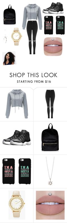 """""""School"""" by jadamckenzie20 ❤ liked on Polyvore featuring Topshop, NIKE and Chico's"""