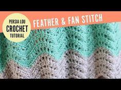 Feather and Fan crochet blanket pattern