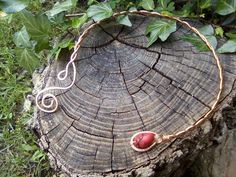 Celtic copper braided torc necklace