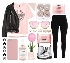 """""""Take me down to the paradise city where the grass is green."""" by xo-nataliiee-xo ❤ liked on Polyvore featuring Dr. Martens, Acne Studios, philosophy, Herbivore, Anastasia, Quay, LULUS, Neutrogena and River Island"""