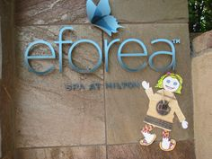 Chipette was excited to get scheduled at the spa - Eforea at Hilton Sedona Resort & Spa