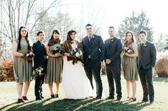 olive green wedding party
