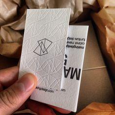 Print design inspiration | #932 - Letterpress Buisness Cards