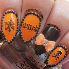 halloween by victoriac07  #nail #nails #nailart