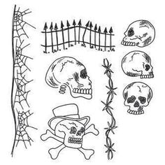 Ranger Dyan Reaveley's Dylusions Cling Stamp Collection - Day Of The Heads