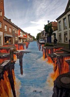 Amazing street art.  http://rach75.hubpages.com/hub/chalk-art