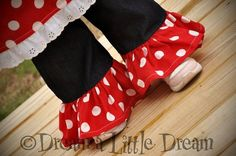 Minnie Mouse Dark Wash Denim and Dots by dreamalittledream10, $20.00