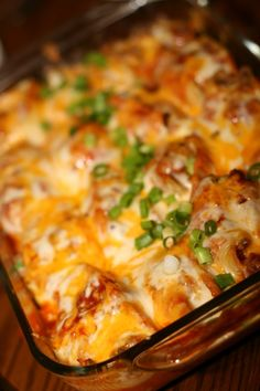 Mexican Stuffed Shells.  Use lentils instead of beef!  Much healthier... and no mad cow risk!