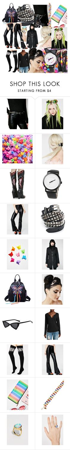 """Free in leather"" by lerp ❤ liked on Polyvore featuring Funk Plus, Noir Jewelry, Current Mood, Emory Park, Disturbia, Zadig & Voltaire, Ana Accessories, Skinnydip and Replay"