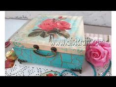 Christmas decoupage recycle shoe box DIY Christmas basket ideas decorations craft tutorial - YouTube