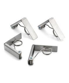 Another great find on #zulily! Stainless Steel Tablecloth Clips - Set of Four #zulilyfinds