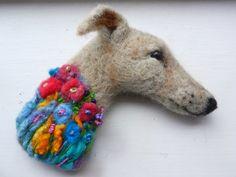 Felted Greyhound Brooch £35.00