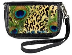 Black Peacock Feather Wristlet and Cell Phone Holder. Stop by 1823 Adams St., Mankato, Minnesota 56001, Ph. (507) 387-5000.