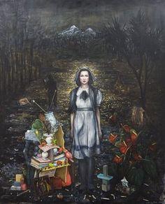 Wandering Rose, by Kiwi artist, Seraphine Pick. Artist Painting, Artist Art, Contemporary Artists, Modern Art, Art Visionnaire, Eugenia Loli, Pick Art, Symbolic Art, Nz Art