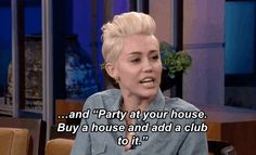 Also, she made a valid point on the show. | Miley Cyrus Has Some Advice For Justin Bieber