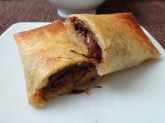 Nems banane-chocolat - Recette de cuisine Marmiton : une recette