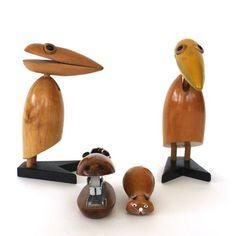 At Home Modern: Wood Animal Desk Set, at 20% off!
