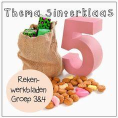 Thema Sinterklaas - Rekenwerkbladen gr 3&4
