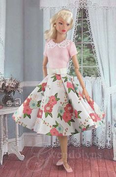 Your place to buy and sell all things handmade Plastic Girl, Pink Doll, Pink Barbie, Bow Belt, Swing Skirt, Rockabilly Fashion, Lace Collar, Barbie Dress, Neck Scarves