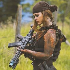 Rough Woman Soldier   Apocalypse