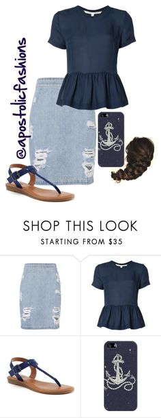 A fashion look from June 2017 featuring short sleeve blouse, mini skirts and thong sandals. Browse and shop related looks. Apostolic Fashion, Modest Fashion, Cute Fashion, Fashion Outfits, Apostolic Style, Womens Fashion, Modest Casual Outfits, Modest Wear, Cute Outfits