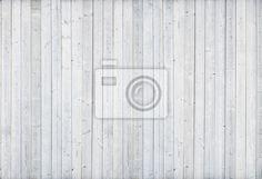 Fototapete weiß Holz-Mauer