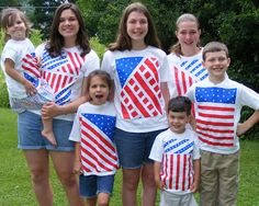 Ten kids and a Dog: 4th of July t-shirts