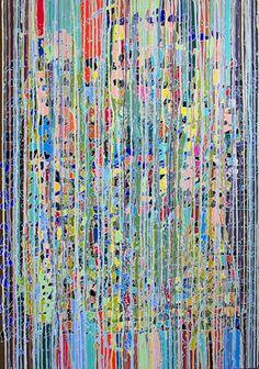"Saatchi Online Artist Sandrine Marsaud; Painting, ""New Navajo Falls"" #art"