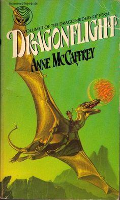 Publication: Dragonflight Authors: Anne McCaffrey Year: 1978-10-00 ISBN: 0-345-27694-9 [978-0-345-27694-0] Publisher: Del Rey / Ballantine Cover: Michael Whelan
