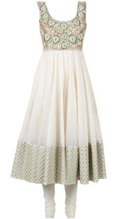 White polki suit by PAYAL SINGHAL. http://www.perniaspopupshop.com/designers-1/payal-singhal