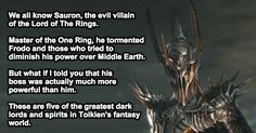5 Tolkien Villains Too Intense For The Big Screen.  This foe is beyond any of you. Run!