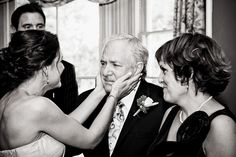 A sweet moment between the bride and her father. @CustombyNicole