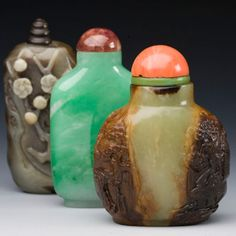 Jade Snuff Bottles, Qing dynasty, 1644-1911,The CARU Collection