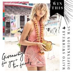 ITS GIVEAWAY TIME!!!!!  We have partnered with our friends at @maiyo_swimwear for this amazing GIVEAWAY for YOU and TWO of your FRIENDS!!!!!! EACH of you will be able to choose your swimwear or coverup of choice!!!! Woo hoo!!! All you have to do is 1) FOLLOW both @maiyo_swimwear AND @disfunkshionmag 2) Tag 2 friends in the @disfunkshionmag giveaway post comments section!  Giveaway ENDS Sunday April 2nd! Winner will be announced on April 3rdInline image 1 end of day!! Good Luck! We love you…