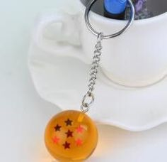Dragon Ball Z DBZ Crystal Ball 1-7 Stars Keychain