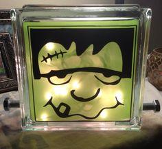 Cricut Project Ideas Using Vinyl Vinyl Halloween Glass Block - Halloween vinyl decals for glass blocks