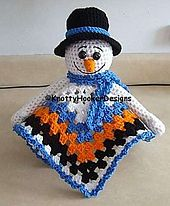 Ravelry: Mr. Frost The Snowman Lovey Blankie pattern by Knotty Hooker Designs