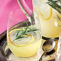 Lemon-Gin Sparkling Cocktail - Loosely based on the French 75, a classic cocktail of gin, Champagne, lemon juice, and sugar, this welcoming beverage uses lemonade concentrate as a shortcut.