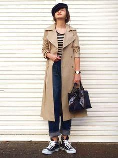 今回は、ベレー帽のかぶり方をはじめ、ヘアスタイル別に素敵な秋のベレー帽コーディネートをご紹介します。 Japan Fashion, Daily Fashion, Everyday Fashion, Normcore Fashion, Fashion Outfits, Womens Fashion, Trent Coat, Trenchcoat Style, Trench Coat Outfit