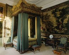 bedroom at Burghley House