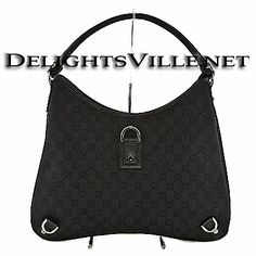 895f6bf503ac Gucci 268636 F5DIR GG Abbey D Ring Hobo Handbag Black 100% AUTHENTIC and  NEW WITH