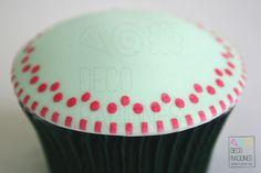 Cupcake color menta / Color mint cupcake decoracionesreposteria.wordpress.com