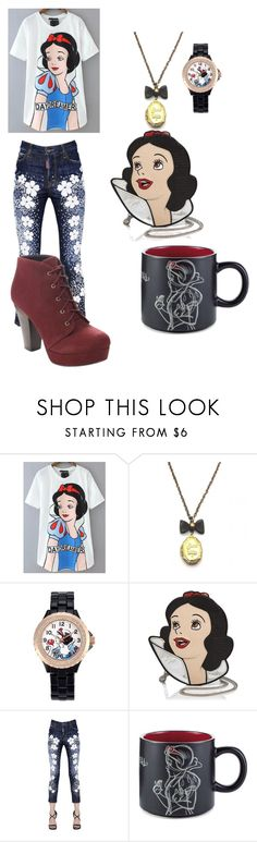 """""""snow white look"""" by mbc44youtuber ❤ liked on Polyvore featuring Zara Taylor, Disney, Danielle Nicole and Dsquared2"""