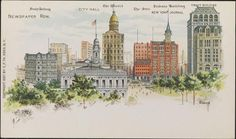 Postcard 1897 C. Kreh New York Times Newspaper Row Journal Mailing Card New York Journal, Times Newspaper, Gilded Age, Famous Landmarks, Architecture Old, New York Times, Old And New, The Row, New York City