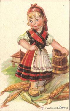 Spain Culture, Regional, Disney Characters, Fictional Characters, Costumes, Disney Princess, Illustration, Dutch, Painting
